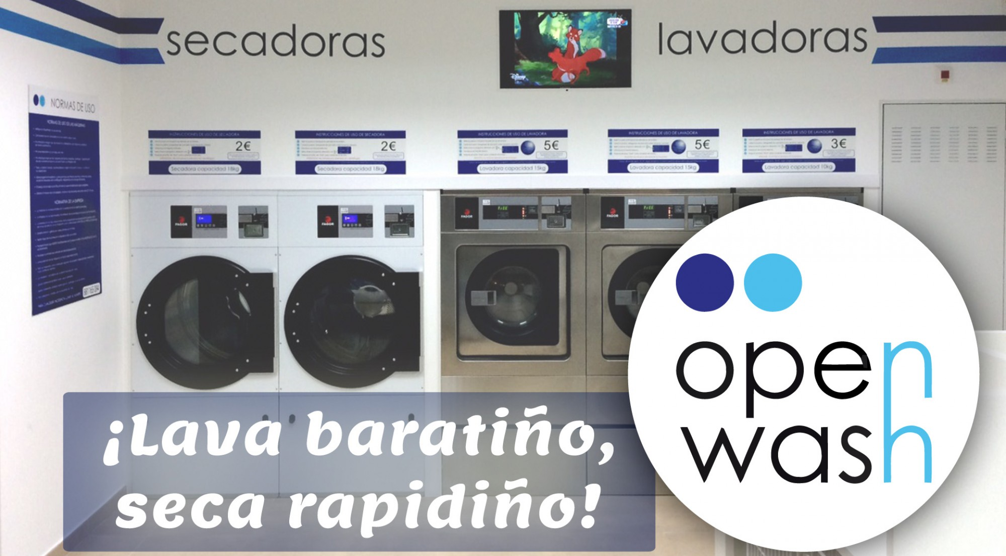 Lavandería Open Wash 📞  881 16 50 94